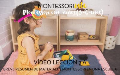 7.Breve resumen de materiales en una Escuela Montessori. La mesa de observación